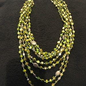 Beautiful Silpada green multi strand necklace